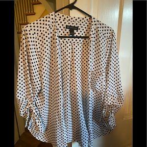 Button down polka dot blouse